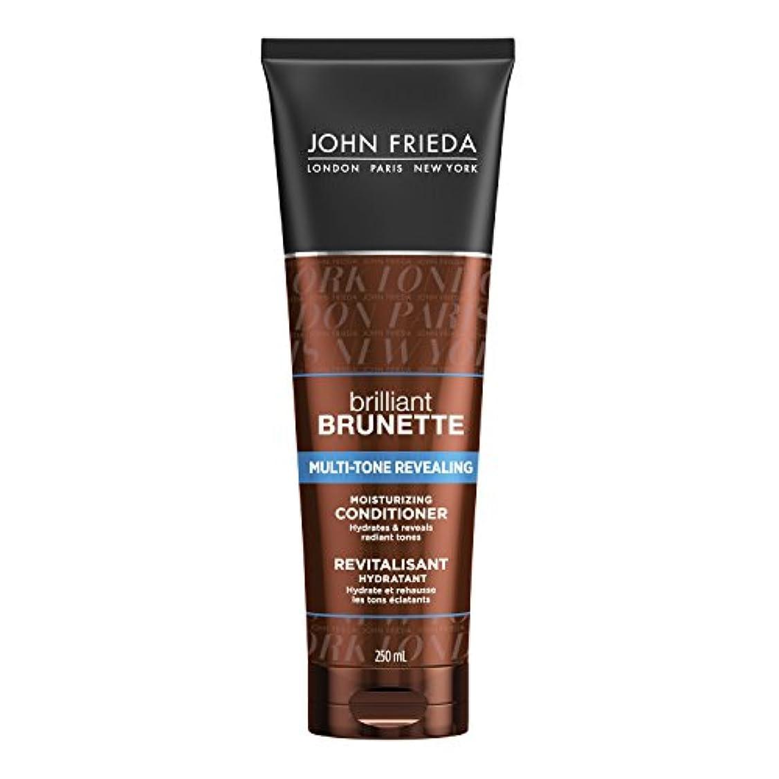 ロマンス反射明確にJohn Frieda Brilliant Brunette Multi-Tone Revealing Moisturising Conditioner for Brunettes 250ml