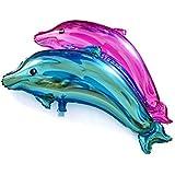Blesiya 2本 デコレーション おもちゃ セット イルカ形 ウェディング 誕生日 パーティー 風船 フォイルバルーン セット