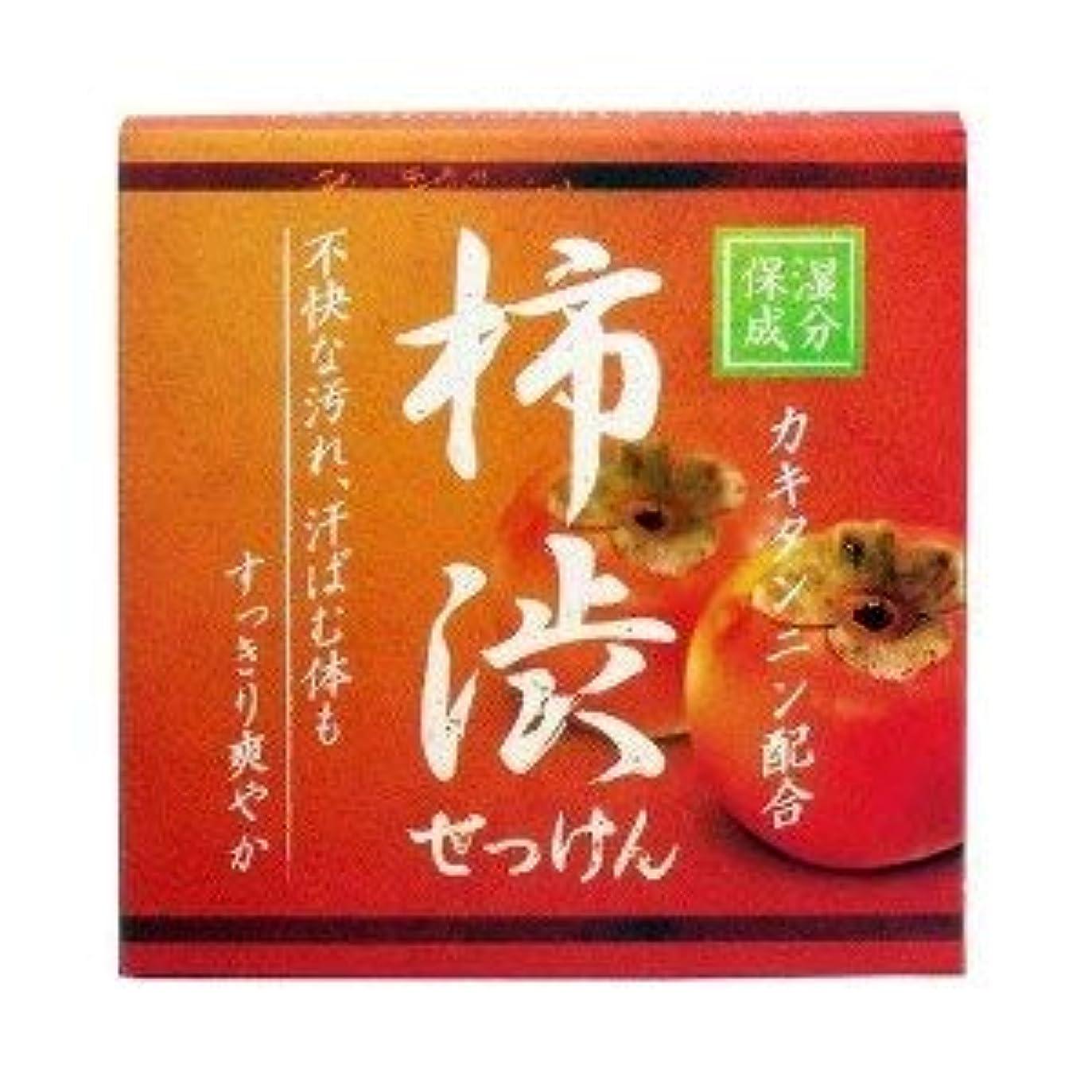 暗唱するリーズ飲み込む柿渋配合せっけん カキタンニン配合保湿成分 80g×2 2個1セット 石鹸