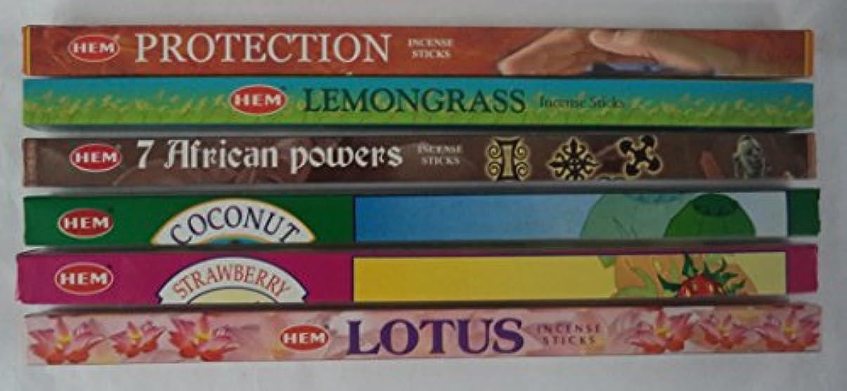 追放するパン屋追放するHemお香Best Seller # 5セット: 6ボックスX 8スティック、合計48 Sticks