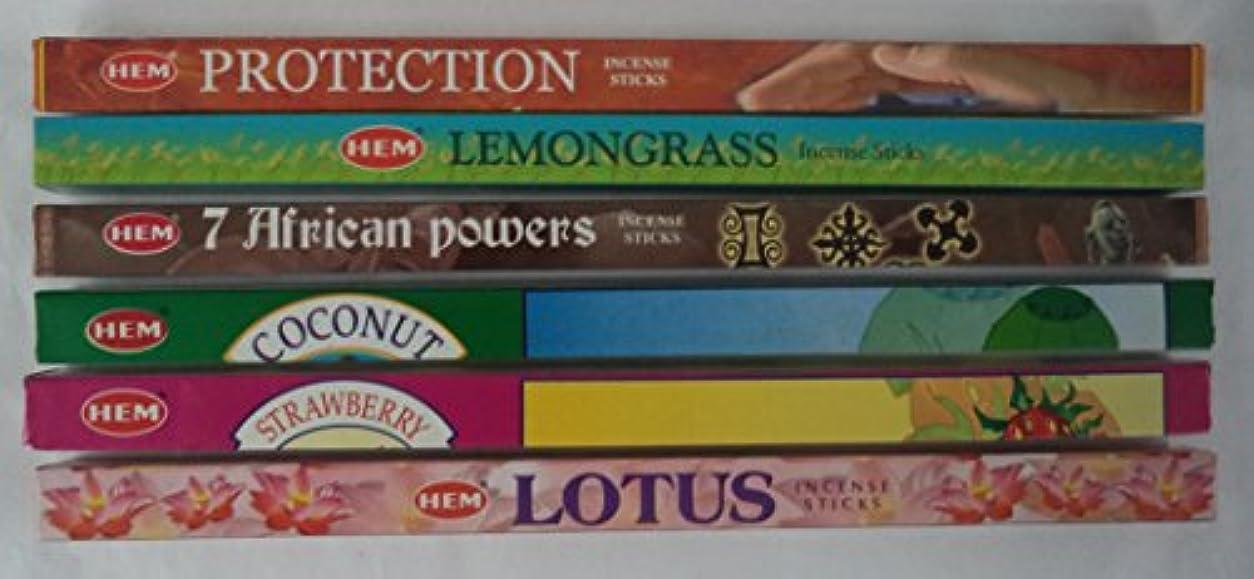 競う刺します胃Hemお香Best Seller # 5セット: 6ボックスX 8スティック、合計48 Sticks