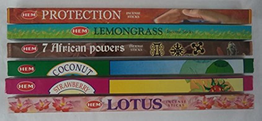 例示するかもめブレスHemお香Best Seller # 5セット: 6ボックスX 8スティック、合計48 Sticks