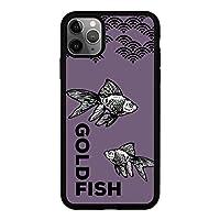 iPhone 7 Plus 背面 ガラス ブラック 薄型 スマホケース スマホカバー pg102(C) 金魚 きんぎょ キンギョ アイフォン7プラス アイフォンセブンプラス スマートフォン スマートホン 携帯 ケース アイホン7プラス アイホンセブンプラス TPU バンパー スマフォ カバー