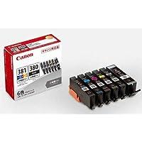 Canon 純正 インクカートリッジ BCI-381(BK/C/M/Y/GY)+380 6色マルチパック 小容量タイプ BCI-381+380s/6MP