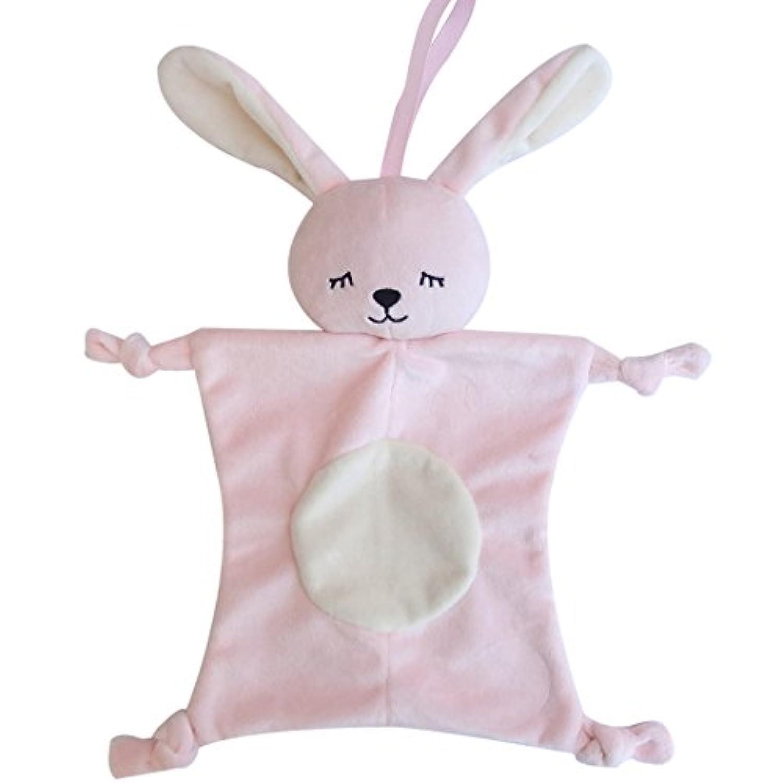 Cartoon動物ぬいぐるみおもちゃ新生児赤ちゃんSleeping Sootherタオル人形 one CCye-000188Z-02
