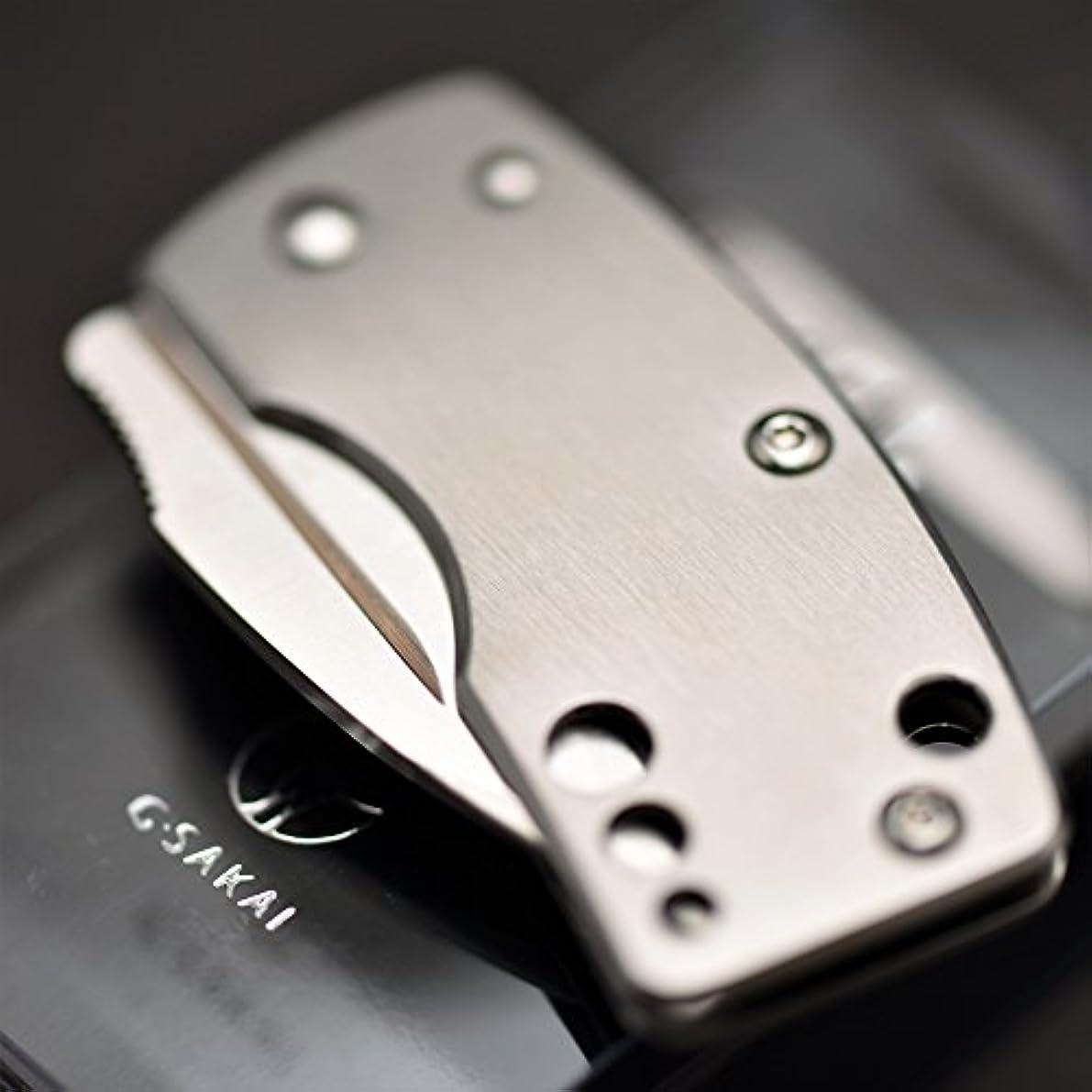 改善する奨励受益者G?SAKAI(Gサカイ) スカル マネークリップ 丸穴 折りたたみナイフ