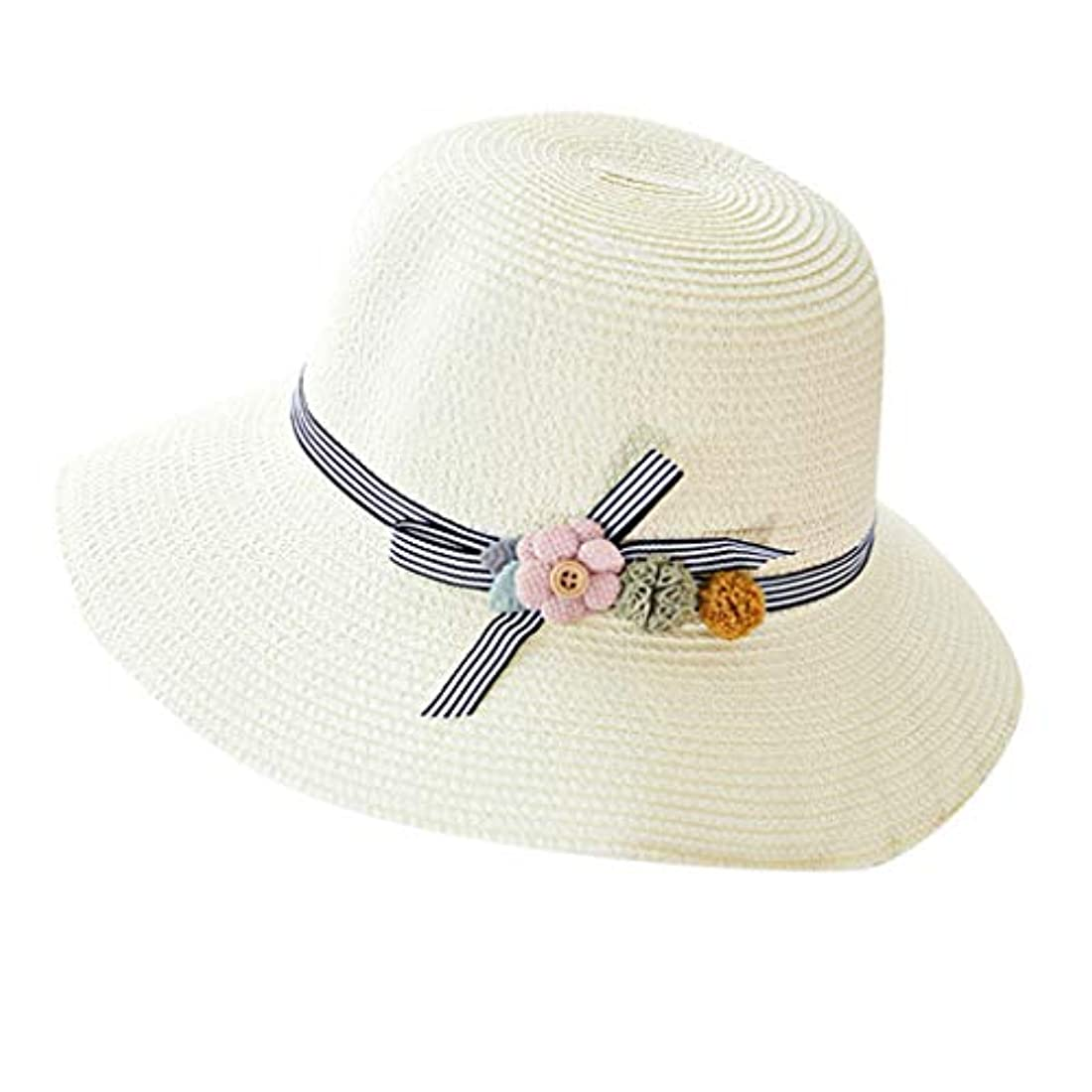 カブオーチャードオーチャード漁師帽 夏 帽子 レディース UVカット 帽子 ハット レディース 紫外線対策 日焼け防止 つば広 日焼け 旅行用 日よけ 夏季 折りたたみ 森ガール ビーチ 海辺 帽子 ハット レディース 花 ROSE ROMAN