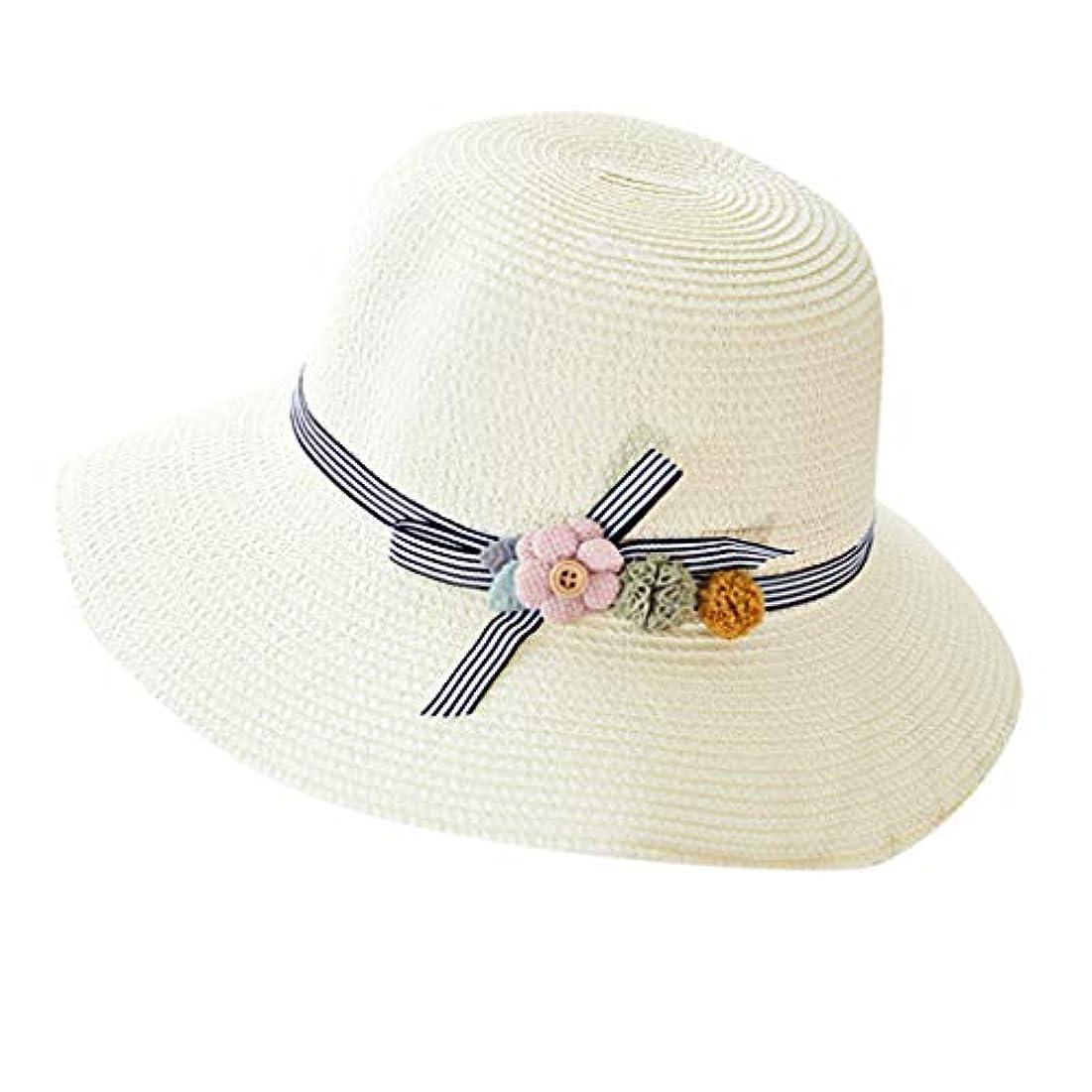 家庭雇用者議題漁師帽 夏 帽子 レディース UVカット 帽子 ハット レディース 紫外線対策 日焼け防止 つば広 日焼け 旅行用 日よけ 夏季 折りたたみ 森ガール ビーチ 海辺 帽子 ハット レディース 花 ROSE ROMAN