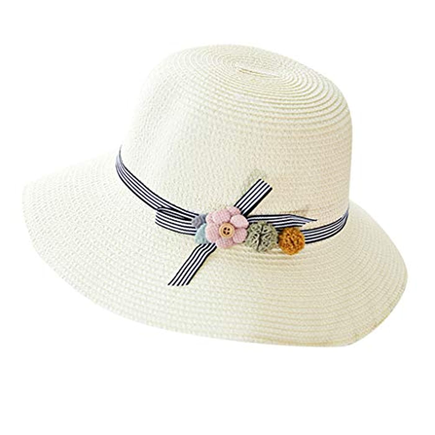 東方証明がっかりした漁師帽 夏 帽子 レディース UVカット 帽子 ハット レディース 紫外線対策 日焼け防止 つば広 日焼け 旅行用 日よけ 夏季 折りたたみ 森ガール ビーチ 海辺 帽子 ハット レディース 花 ROSE ROMAN