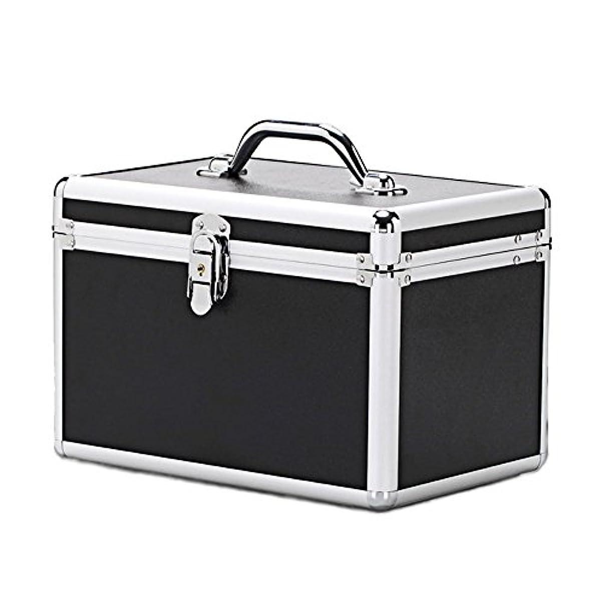 俳優オリエンタルベッドメイクボックス メイクブラシ 収納 トレー付き 大容量 NLS-3