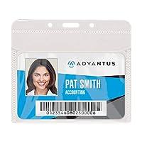"PVC-Free Badge Holders, Horizontal, 4"" x 3"", Clear, 50/Pack (並行輸入品)"