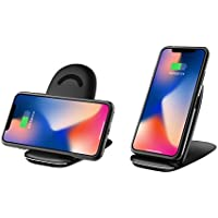 [WL JUST]QI 折り畳み ワイヤレス充電器 iPhone X iPhone8/8plus Samsung Galaxy S8 S8+ S7 Edge 他 チー 対応可能 USBケーブル付属 充電器   三つのコイル収納可能便利 ワイヤレスチャージャー