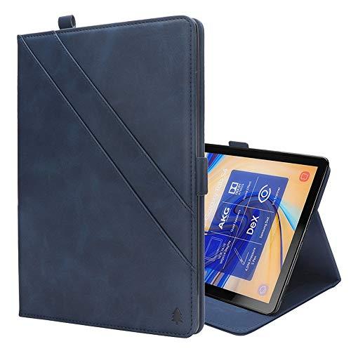 GzPuluz 保護ケース PCアクセサリー Galaxy Tab S4 10.5 T830 / T835用カードスロット&フォトフレーム&ペンスロット付き、水平フリップダブルホルダーレザーケース (色 : Blue)