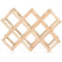 ホークスアイ(HAWK's EYE) 木製 ワインラック 折りたたみ式 10本