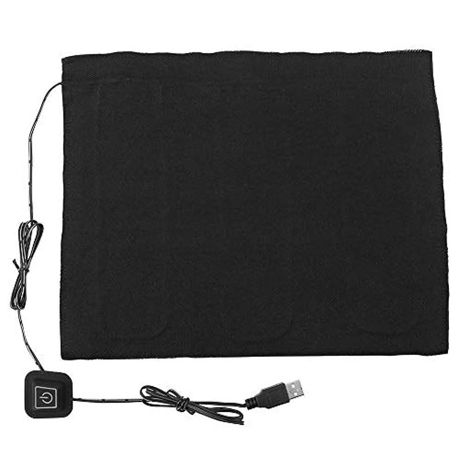 修士号悪行サラミ電気布ヒーターパッド、首の腹部の腰部加熱、加熱パッドペットウォーマー用DC 5 v 3シフトUSB発熱体