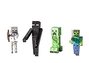 Minecraft マインクラフト Figure フィギュア 4-Pack Hostile Mobs [並行輸入品]