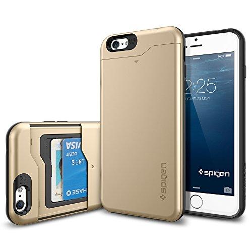 iPhone 6 plus ケース, Spigen® [ IC カード 収納可能] スリム・アーマーCS *Apple iPhone 5.5* (2014) アイフォン6 カバー **カード スライダー** (国内正規品) (シャンパン・ゴールド 【SGP10913】)