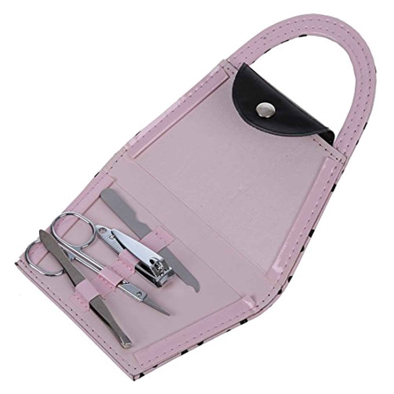 病気インディカ再集計ACAMPTAR ACAMPTAR(R)ピンク ポルカドットの財布 マニキュアセット ブライダルシャワーおお返しギフト パーティーウェディングギフト 4つの小品