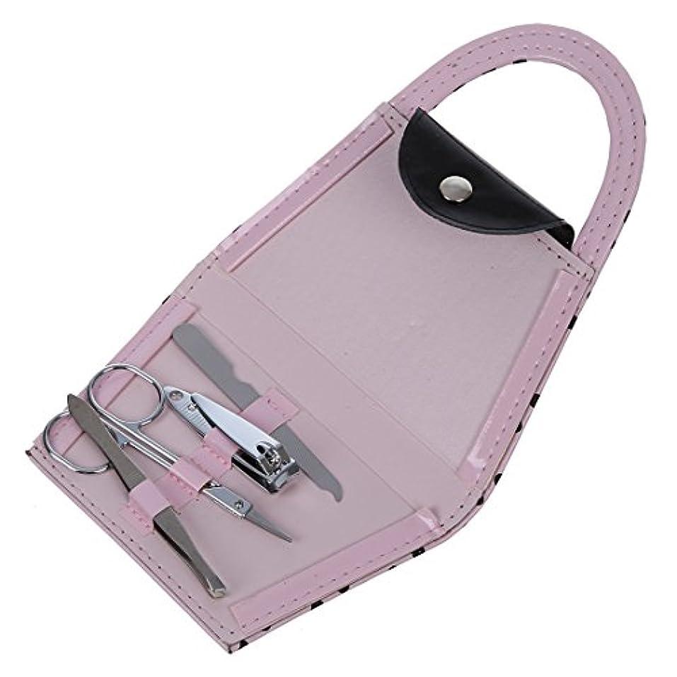 広告主私のもつれACAMPTAR ACAMPTAR(R)ピンク ポルカドットの財布 マニキュアセット ブライダルシャワーおお返しギフト パーティーウェディングギフト 4つの小品
