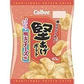 カルビー 堅あげポテト 明太チーズ味 63g × 12袋