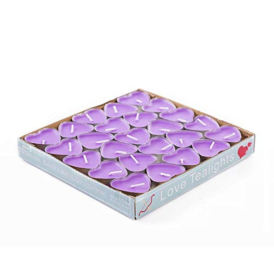 水数学住むHwagui ティー アロマキャンドル ハート型 人気 手作り 幅広い用途 バターキャンドル 温かい キャンドル 50個 2時間 ZH007