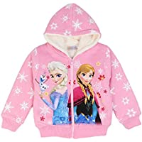 PCLOUD Girls' Frozen Thick Plush Hoodies for Winter Sweatshirt