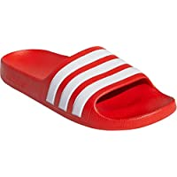 adidas Kid's Adilette Aqua Boys Sandals Active Red/Cloud White/Active Red 3 Little Kid