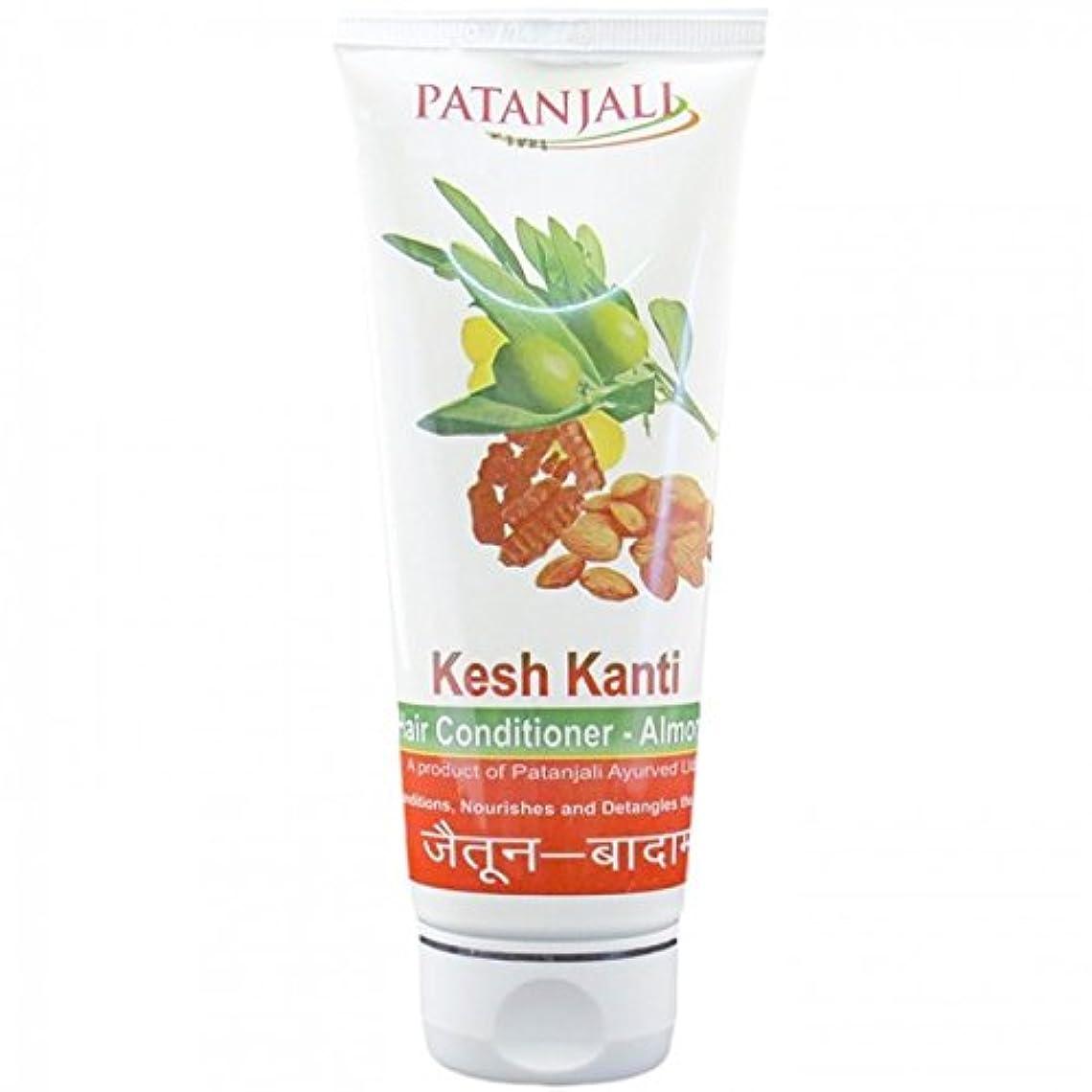 ひねくれたあご本土PATANJALI Kesh Kanti Hair Conditioner Almond 100 Grams by Patanjali