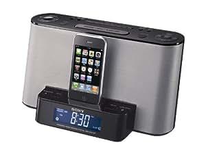 SONY iPod/iPhone用ドックスピーカー クロックラジオ機能付 ブラック SRS-GCS10IP/B