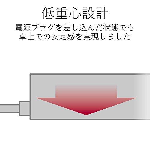 ELECOM 電源タップ ホコリシャッター付 耐熱素材使用 flecc barra 2個口 2.0m ホワイト T-NFL01-2220WH
