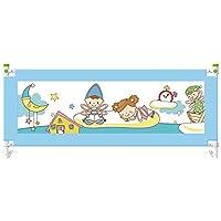 YNN 子供ベッドガードレール落ちる大きなベッドバッフルベビーベッドフェンス折り畳み式ユニバーサル1.5m \ 1.8m \ 2m \ 2.2m (色 : 青, サイズ さいず : 180cm)
