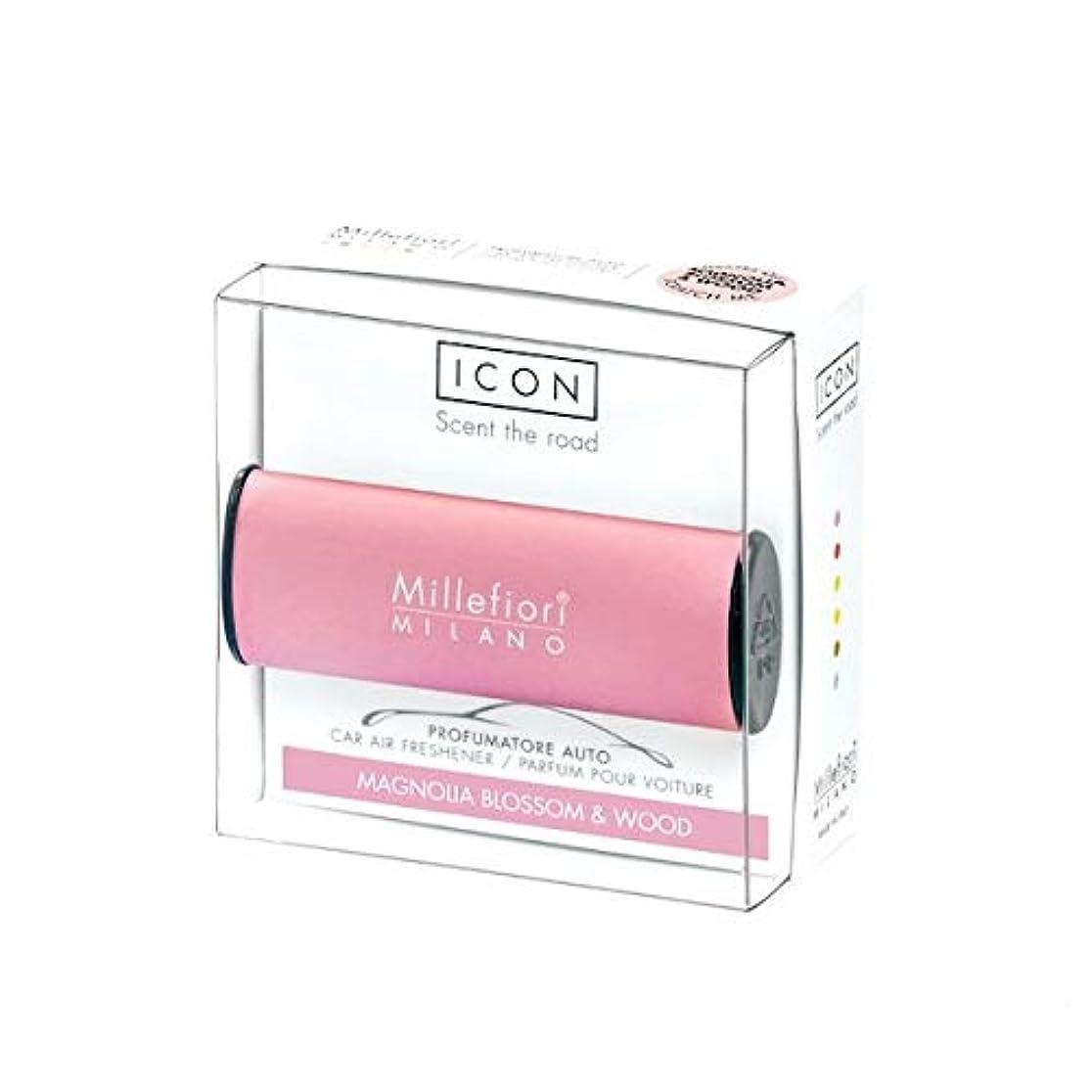 サーバレコーダーほとんどないミッレフィオーリ(Millefiori) カーエアフレッシュナー ICON CLASSIC PINK - マグノリアブロッサム&ウッド(MAGNOLIA BLOSSOM & WOOD) [並行輸入品]