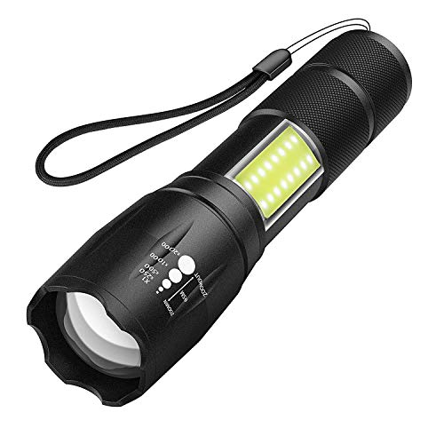 Smartmago 懐中電灯 LED ハンディライト 超高輝度 ズーム式5モード SOS点滅 軍用 強力 防犯 IPX7 防水 防災 対策