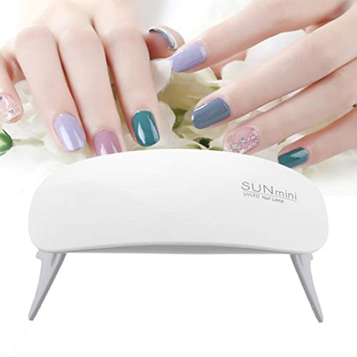 想定するしなやか雄弁BFACCIA ミニサイズ UV と LEDダブルライト ネイルランプ 乾燥用速乾性折りたたみ式 タイマー設定可能 (ホワイト)