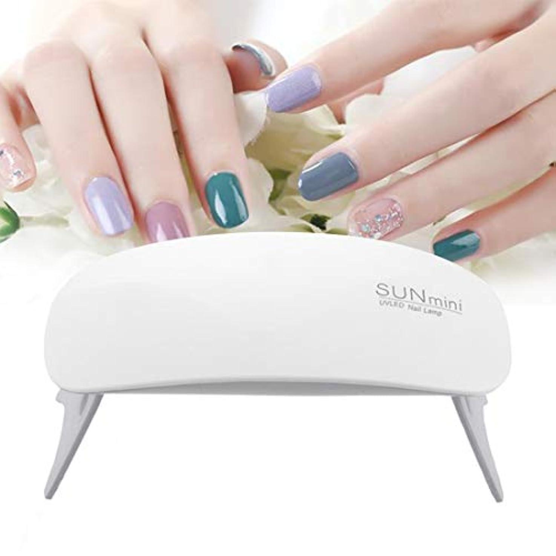 BFACCIA ミニサイズ UV と LEDダブルライト ネイルランプ 乾燥用速乾性折りたたみ式 タイマー設定可能 (ホワイト)