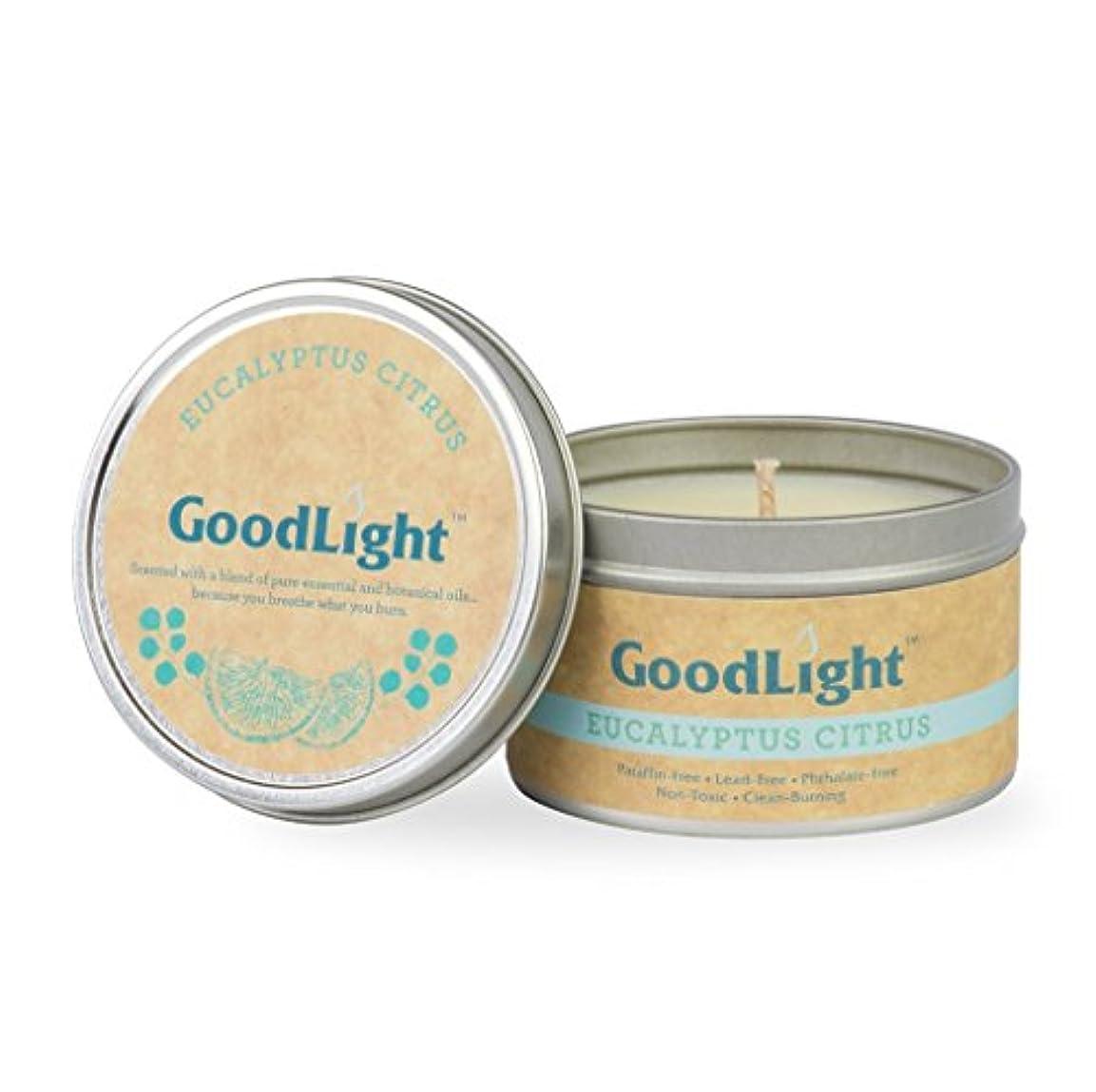 パンダトイレ特権的GoodLight paraffin-free香りつきTravel Tin Candles TT6-EUC