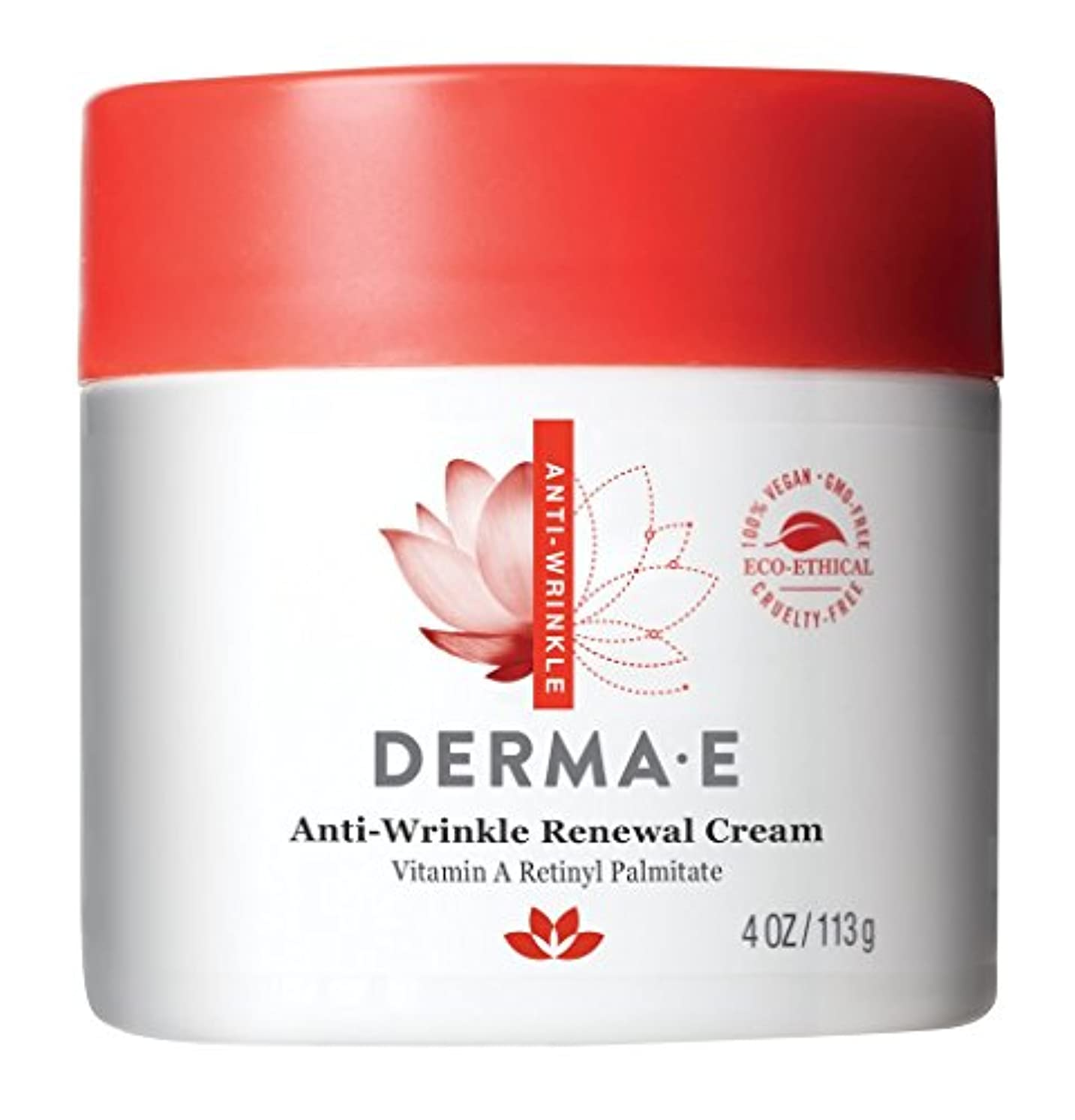労苦拾うコーチDerma E, Anti-Wrinkle Vitamin A Retinyl Palmitate Cream, 4 oz (113 g)