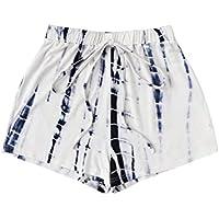 Floerns Women's Tie Dye Drawstring Waist Shorts