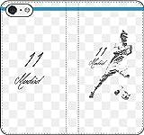 iPhone/Xperia/Galaxy/他機種選択可:サッカー/グラフィティ/へのへのもへじタッチ手帳ケース(デザイン:マドリッド/11番_02) 15 全機種対応用【Lサイズ】
