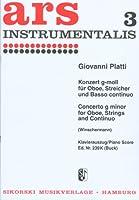 PLATTI G.B. - Concierto en Sol menor para Oboe y Piano (Winschermann)