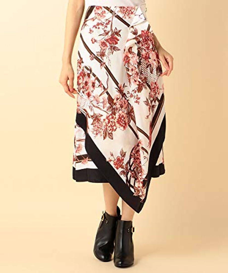 礼儀なぜならゴールデン(キャサリン ロス) KATHARINE ROSS オータムスカーフプリントスカート