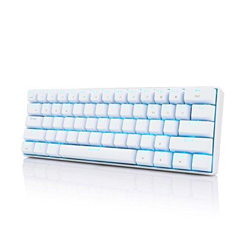 RK ROYAL KLUDGE RK61 メカニカル式 キーボード 青軸 Bluetooth ワイヤレス USB 有線/無線 Windows/Mac/IOS...