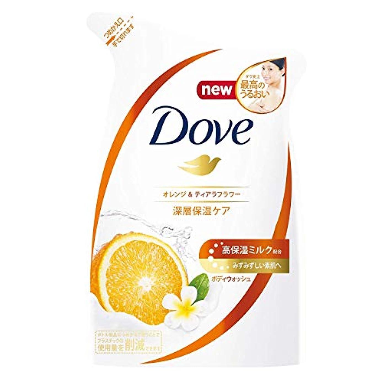 欠乏供給宿泊Dove ダヴ ボディウォッシュ オレンジ & ティアラフラワー つめかえ用 360g × 12点