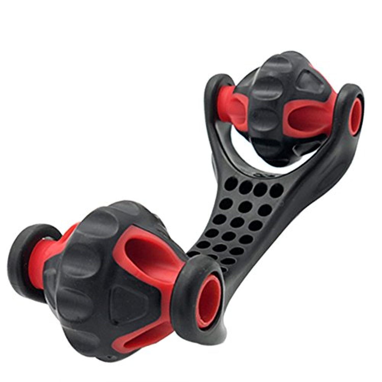 手持ち式ローラーマッサージャー深部組織自己マッサージツール(ネックレス用)足と膝
