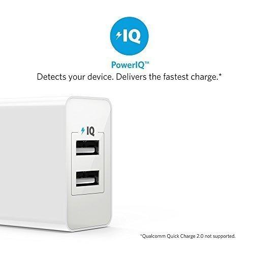 Anker 24W 2ポート USB急速充電器 【iPhone&Android対応 / 折畳式プラグ搭載】 (ホワイト) A2021121