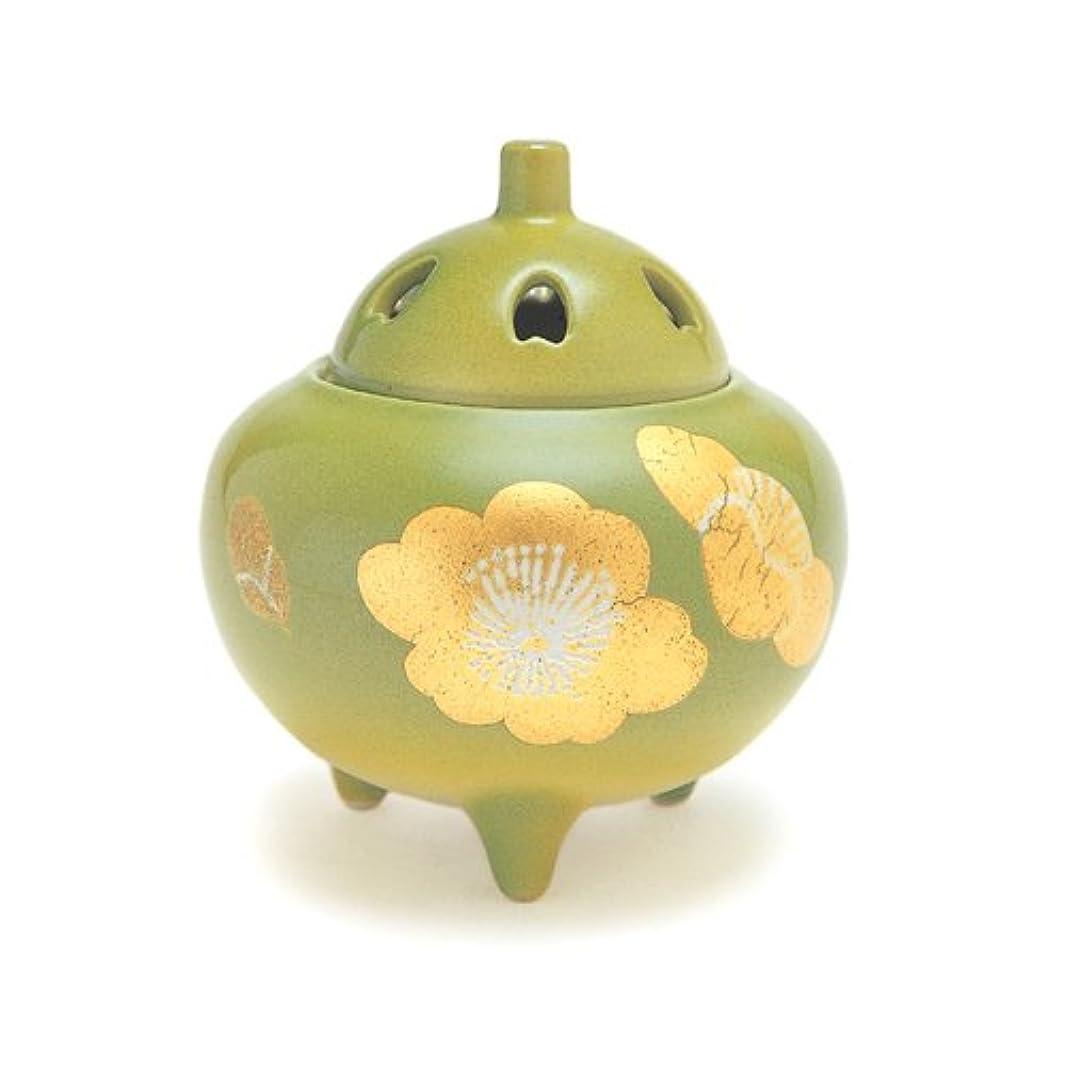 フリースカレッジ想像力豊かな香炉 3号 金箔梅 光陽窯 作