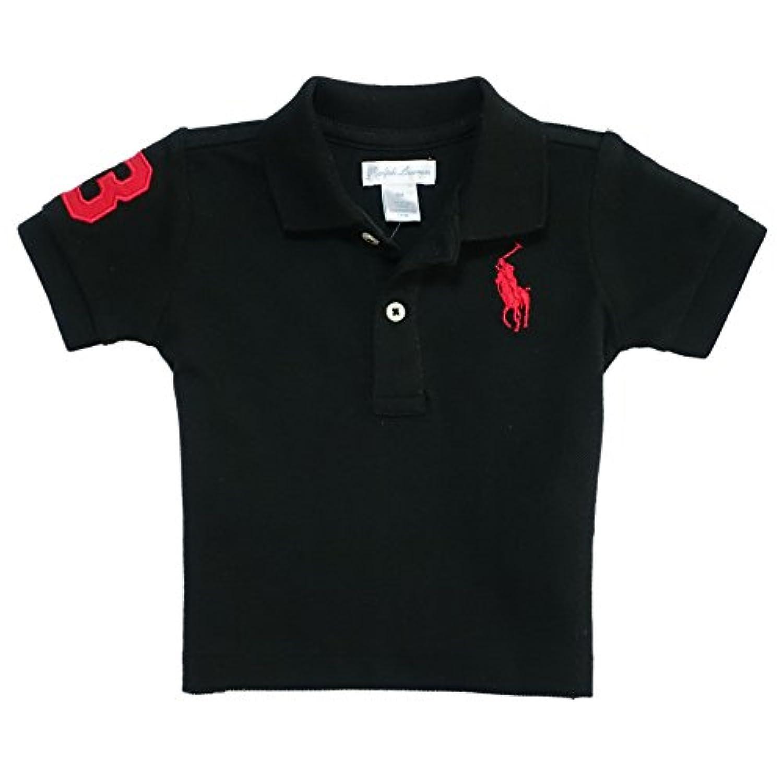 (ポロ ラルフローレン チルドレンズウェア) POLO RALPH LAUREN ベビー 男の子 ポロシャツ Cotton Mesh Polo Shirt ブラック Polo Black (12M) [並行輸入品]