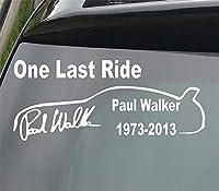LUOSAI ポールウォーカーラストライドカービニールデカールステッカー210mmデボンデカール製