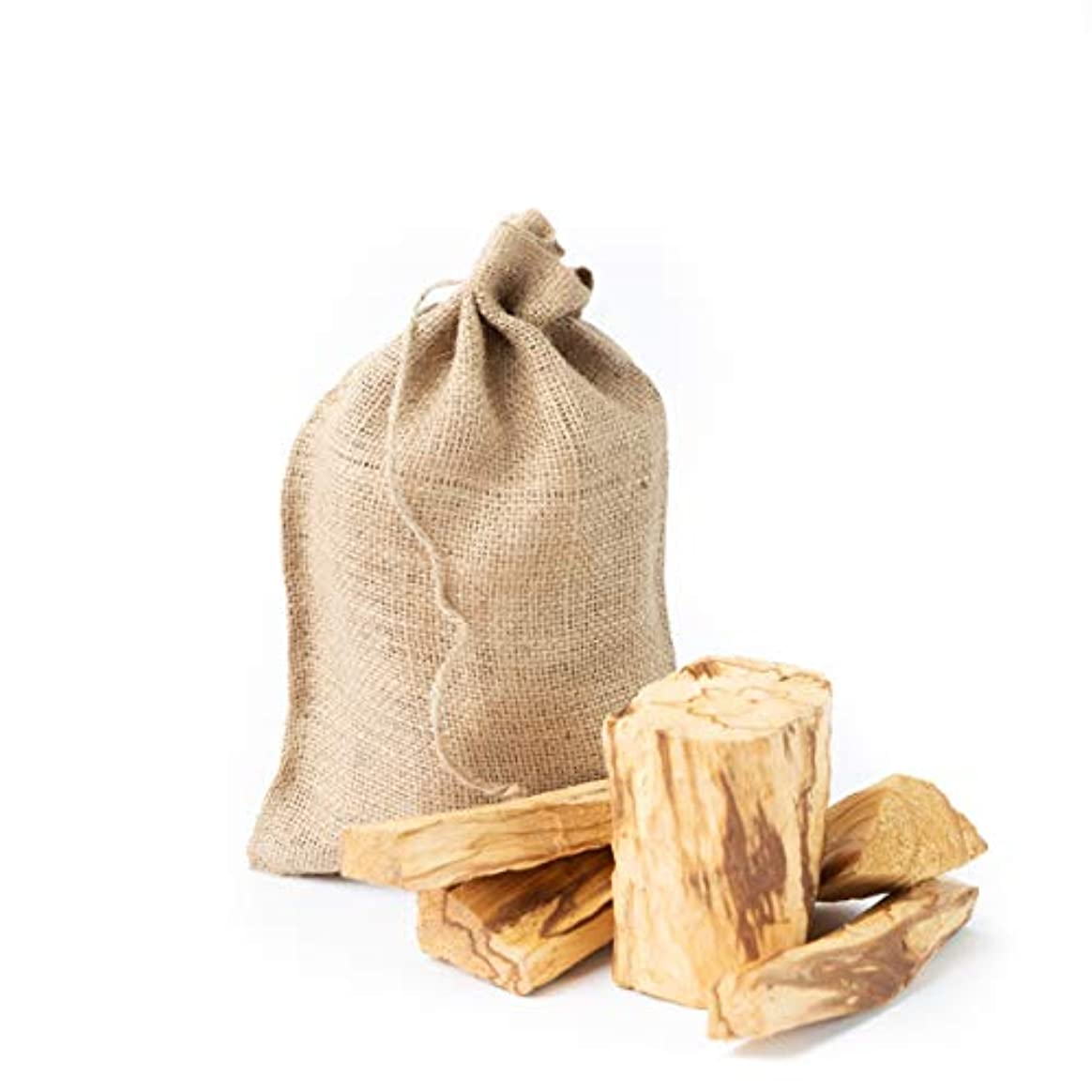 資源大使館支払うPalo SantoからPerú Smudging Sticks大きなチャンク、高樹脂1ポンドバッグ。