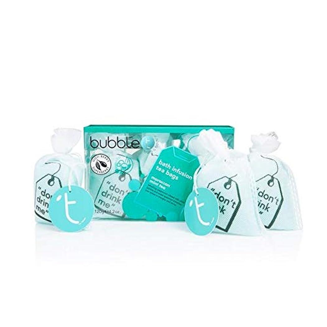 フェザー聴覚ラベル[Bubble T ] バブルトン化粧品モロッコのミントティー風呂輸液トンバッグ - Bubble T Cosmetics Moroccan Mint Tea Bath Infusion T-Bags [並行輸入品]